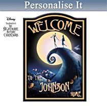 Disney Tim Burton's The Nightmare Before Christmas Personalised Sign