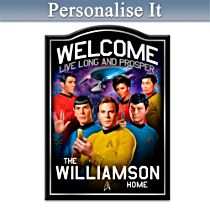 STAR TREK Personalised Welcome Sign