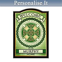 Blessings of Ireland Personalised Welcome Sign