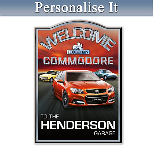 Holden Commodore Personalised Welcome Sign