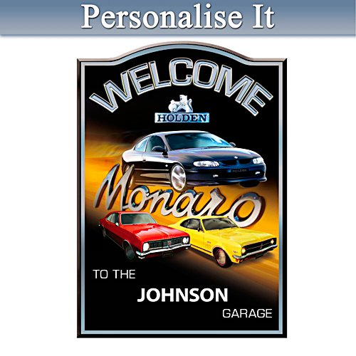 Holden Monaro Personalised Welcome Sign
