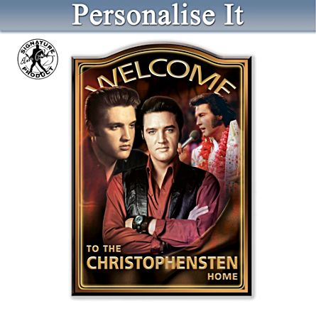 Legend Of Elvis Personalised Welcome Sign