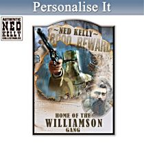 Ned Kelly Outlaw Legend Personalised Sign