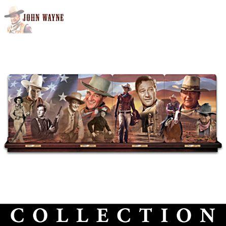 John Wayne Porcelain Plate Panorama Salutes His Milestones
