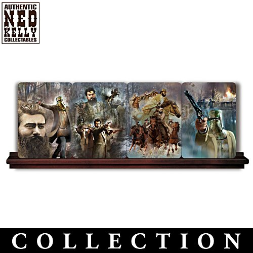 Ned Kelly Panorama Plate Collection With Rail