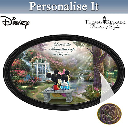 "Disney ""The Magic Of Love"" Collector Plate With 2 Names"
