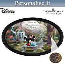 """Disney Mickey Mouse and Minnie Mouse """"The Magic Of Love"""" Collector Plate With 2 Names"""