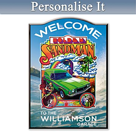 Holden Sandman Personalised Welcome Sign
