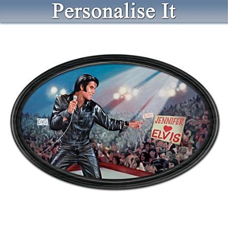 Bruce Emmett Elvis Art Collector Plate With Your Name