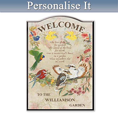 Birds of the Bush Personalised Welcome Sign