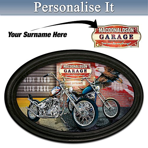 Freedom Rider Personalised Masterpiece Framed Plate