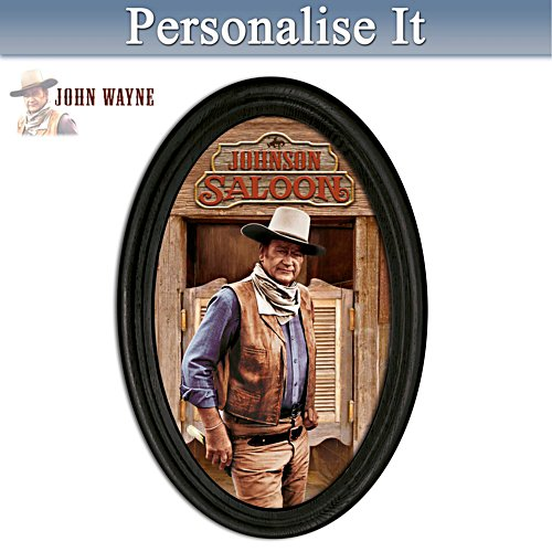 John Wayne Personalised Framed Plate