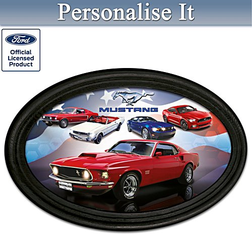 Ford Mustang Personalised Framed Plate