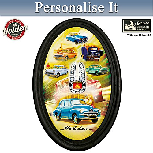 Holden Golden Years Personalised Framed Plate