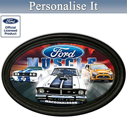 Ford Muscle Framed Collector's Plate