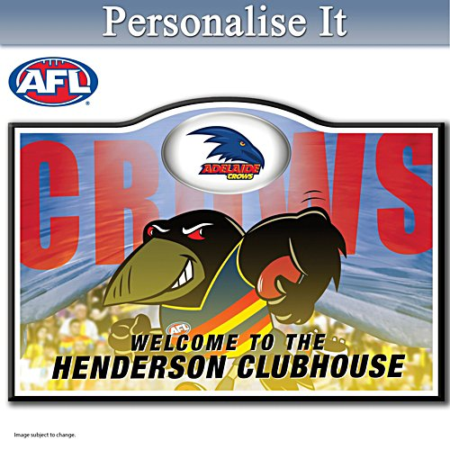 Official AFL Adelaide Football Club Welcome Sign Personalised With Name