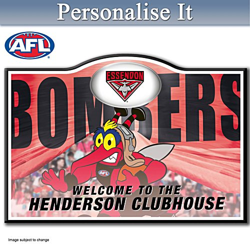 Official AFL Essendon Football Club Welcome Sign Personalised With Name