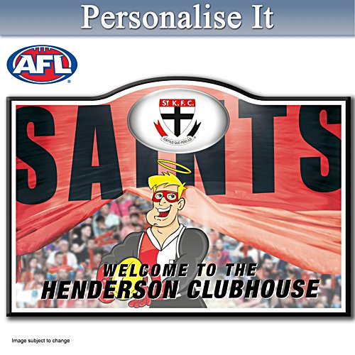 Official AFL St Kilda Football Club Welcome Sign Personalised With Name