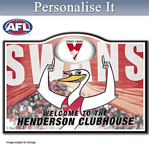 Official AFL Sydney Swans Welcome Sign Personalised With Name