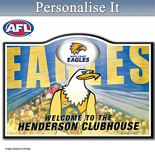 Official AFL West Coast Eagles Welcome Sign Personalised With Name