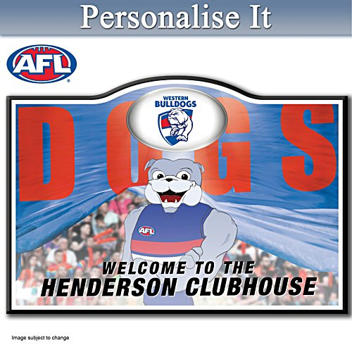 Official AFL Western Bulldogs Welcome Sign Personalised With Name