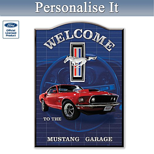 Ford Mustang Personalised Welcome Sign