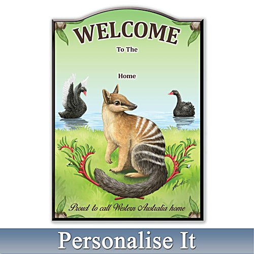 Proud To Call WA My Home State Personalised Welcome Sign