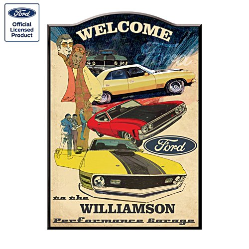 Retro Ford Falcon Personalised Welcome Sign