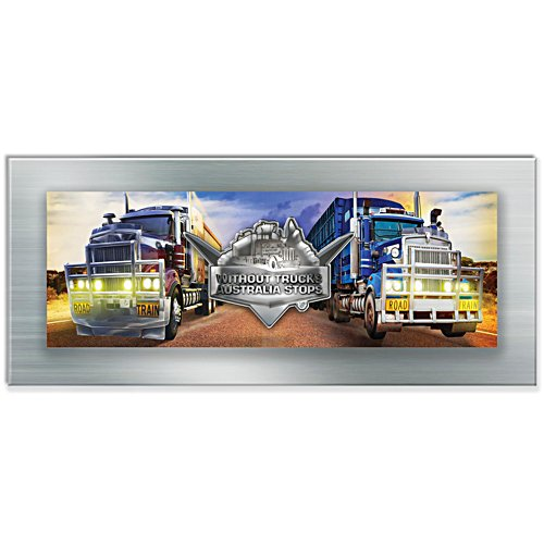 Without Truck Australia Stops Panorama Gallery Editions Metal Print