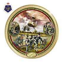 Veterans Remembered 50th Anniversary Plate