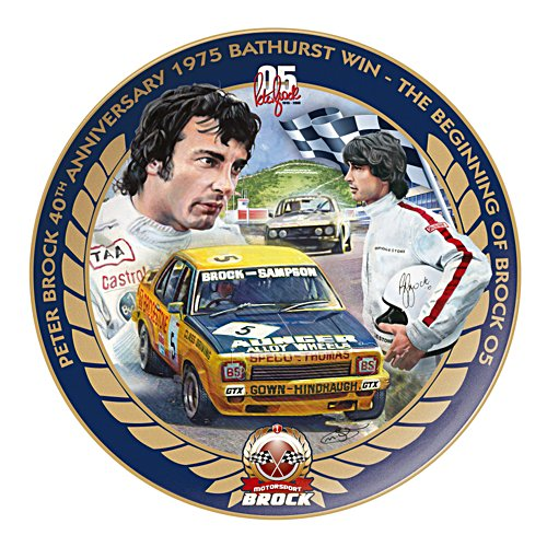 Peter Brock 40th Anniversary 1975 Bathurst Win Collector Plate