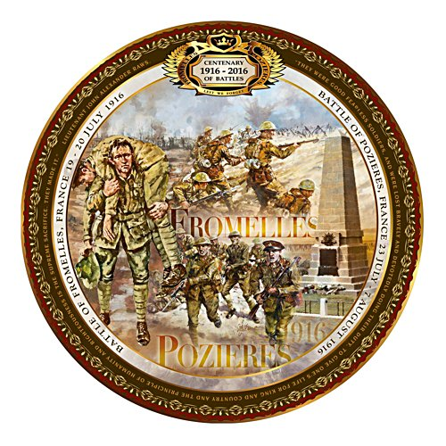 Fromelles And Pozieres Commemorative Collector Plate