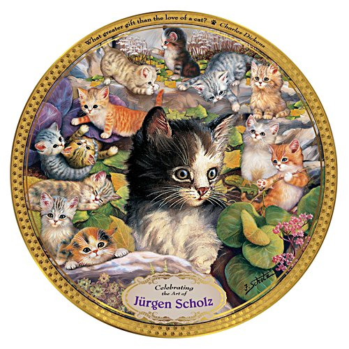 Jürgen Scholz Cat Art Commemorative Collector Plate