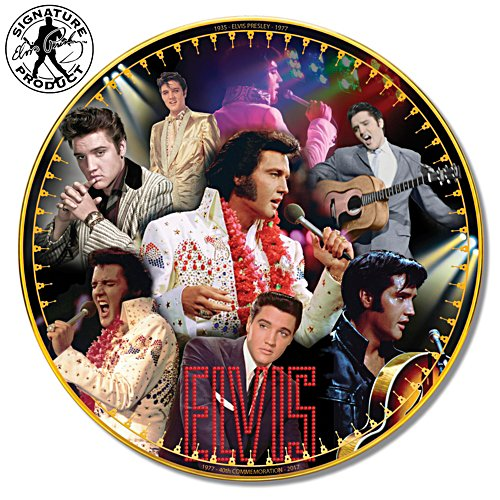 Elvis Presley 40th Anniversary Porcelain Collector Plate