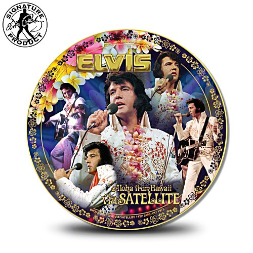 Elvis Presley Aloha From Hawaii 45th Anniversary Commemorative Plate