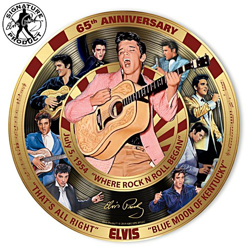 Elvis™ First Record 65th Anniversary Gallery Editions Plate