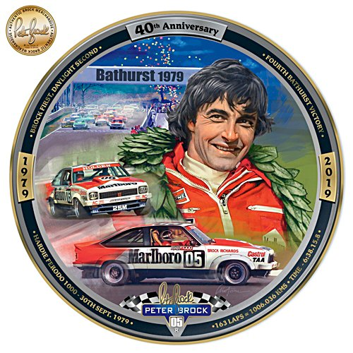 Peter Brock 40th Anniversary Bathurst 1979 Gallery Editions Plate