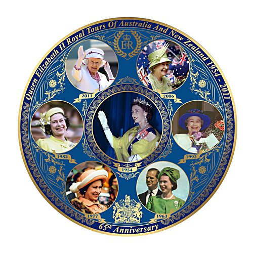 Queen's Royal Tours of Australia and New Zealand Gallery Editions Plate