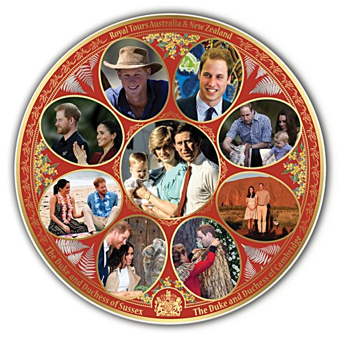 Royal Tours of Australia & New Zealand Gallery Editions Plate