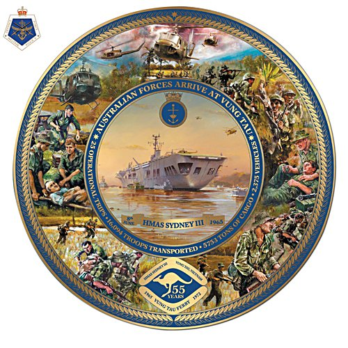 55th Anniversary Australian Forces Arrive at Vung Tau Gallery Editions Plate