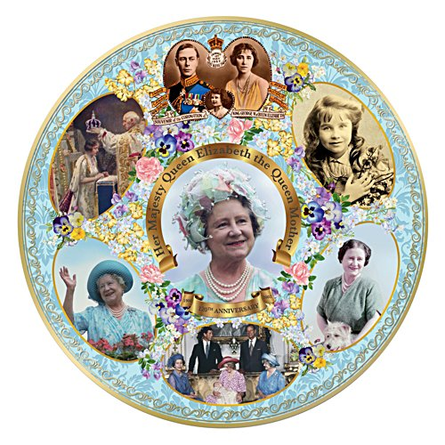 120th Anniversary Birth of Elizabeth the Queen Mother Gallery Editions Plate