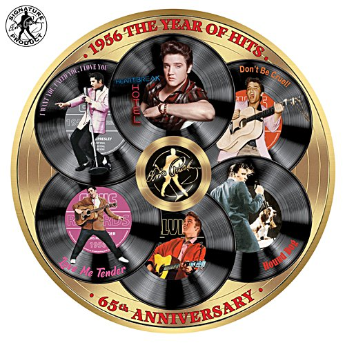 'Elvis™ 1956 the Year of Hits' Gallery Editions Plate