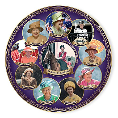 Queen Elizabeth II 95th Birthday Gallery Editions Plate