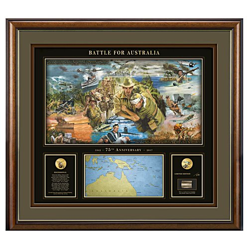 Battle for Australia Gallery Editions Print With 24K Gold Coins