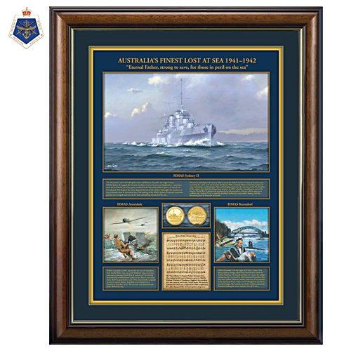 Australia's Finest Lost At Sea 1941 -1942 Gallery Editions Print