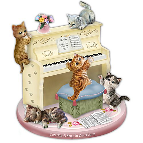 Cats Put a Song in Our Hearts Music Box