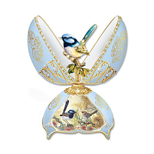 Fairy Wren Fabergé-Inspired Music Box
