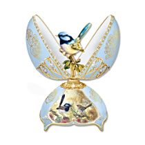 Fairy Wren Fabergé-Inspired Musical Egg