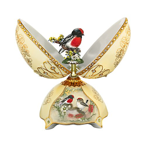 Ode to Joy Music Box with Sculptural Robin