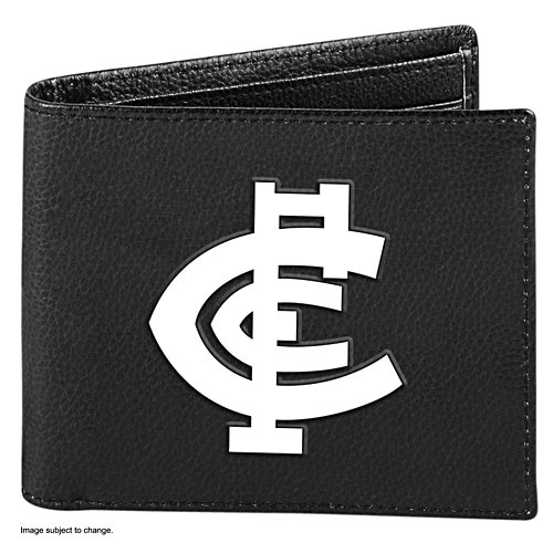 AFL Carlton Blues RFID Blocking Leather Wallet